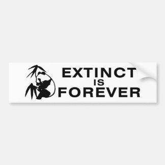 Extinto está el Forever Pegatina De Parachoque