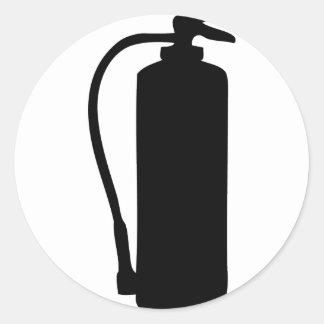 extintor pegatina redonda