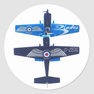 Extra 300 LP of the Blades Display Team Classic Round Sticker