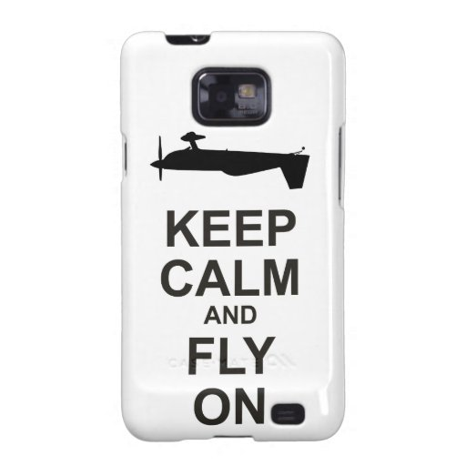 Extra Aircraft Keep Calm and Fly On Galaxy S2 Cover