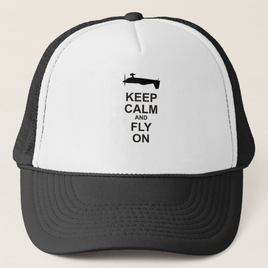 Extra Aircraft Keep Calm Black and Fly On Trucker Hat  561803f37a22