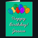 """Extra BIG Birthday card with colored balloons<br><div class=""""desc"""">Extra BIG Birthday greeting card with colored balloons Cute balloon bouquet with personalized wishes like Happy Birthday. Suitable for men women and kids. Colorful design.</div>"""