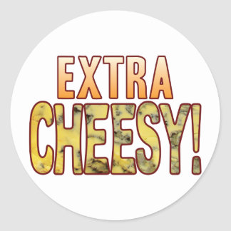 Extra Blue Cheesy Classic Round Sticker