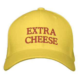 Extra Cheese Embroidered Baseball Hat