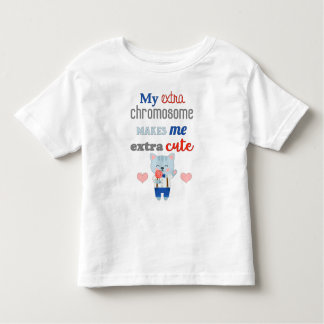 Extra Chromosome, Extra Cute Cat Toddler T-shirt