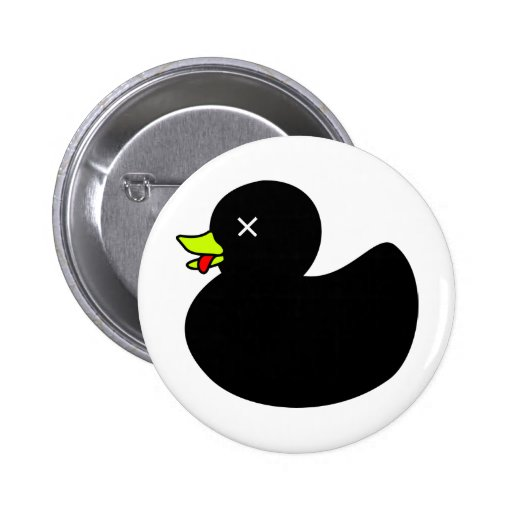 Extra Dead Rubber Duck with Tongue Hanging Out 2 Inch Round Button