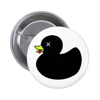 Extra Dead Rubber Duck with Tongue Hanging Out Pins
