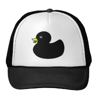 Extra Dead Rubber Duck with Tongue Hanging Out Trucker Hat