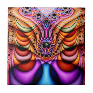 Extra-dimensional Undulations V 1  Ceramic Tile