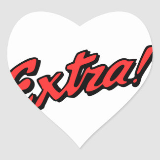 Extra! Exclusive Heart Sticker