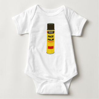 Extra Extra Extra Large can of FACE PALM Baby Bodysuit
