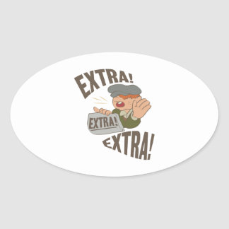 Extra Extra Oval Sticker