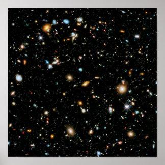 Extra grande ultra profunda del campo de Hubble Póster