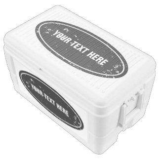 Extra large cooler box | Personalizabel text label