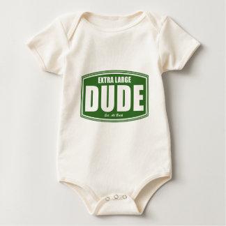 Extra Large Dude Established at Birth Baby Bodysuit