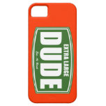 Extra Large Dude Established at Birth iPhone 5 Case