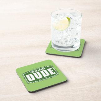 Extra Large Dude Established at Birth Beverage Coasters