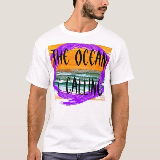 Extra Large Ocean is Calling 2 Men's Beach Tshirt