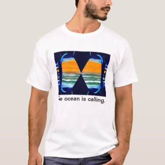 Extra Large Ocean is Calling Men's Summer Tshirt