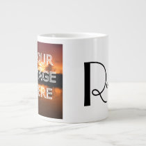 Extra Large Personalized Photo Coffee Mug
