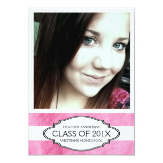 Extra Large Photo Pink Girl Graduate Card