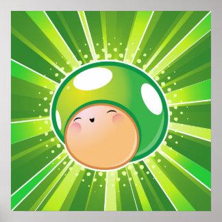 Extra Life Mushroom Poster