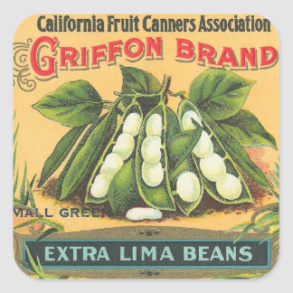 Extra Lima Beans Square Sticker
