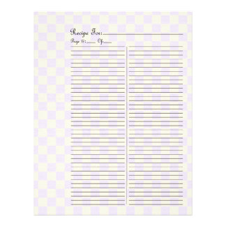 Extra Page For Fruits & Veges Recipe Binder - 1