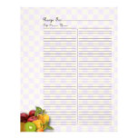 Extra Page For Fruits & Veges Recipe Binder - 2 Letterhead