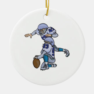 Extra Point Ceramic Ornament