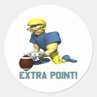 Extra Point Classic Round Sticker