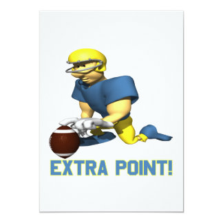 "Extra Point 5"" X 7"" Invitation Card"