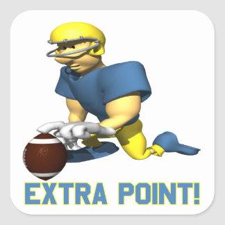 Extra Point Square Sticker