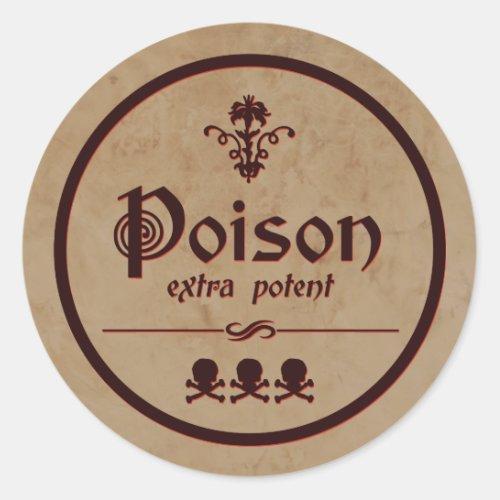 Extra Potent Poison  Halloween Label