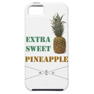 """Extra Sweet pin Apple"" - writing&fruit imprint iPhone SE/5/5s Case"