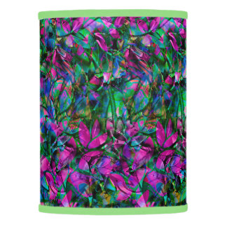 Extra Table Shade Floral Abstract Stained Glass Lamp Shade