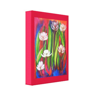 extra terrestial flowers canvas print