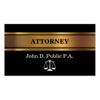 Extra Thick Attorney Business Cards