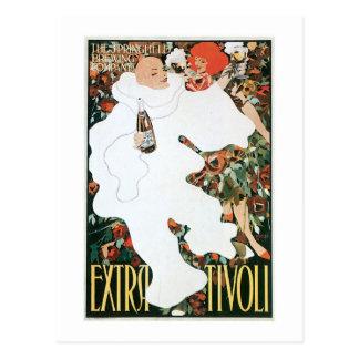 Extra Tivoli Vintage Wine Drink Ad Art Postcard