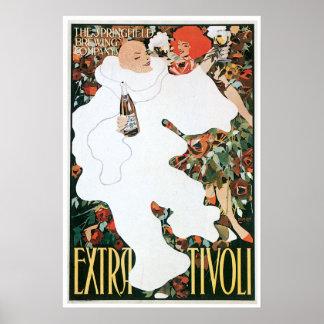 Extra Tivoli Vintage Wine Drink Ad Art Posters