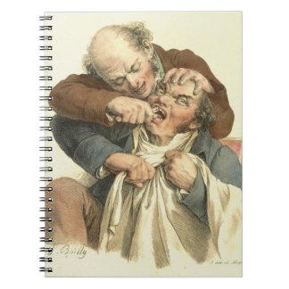 Extracción 1790 del diente libro de apuntes con espiral