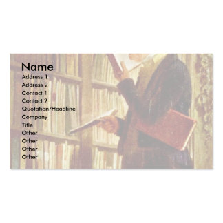 Extract From The Image, The Bookworm Double-Sided Standard Business Cards (Pack Of 100)