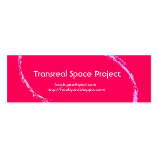extract pink, Transreal Space Project and foto.kyo Double-Sided Mini Business Cards (Pack Of 20)