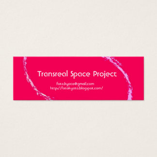 extract pink, Transreal Space Project and Mini Business Card