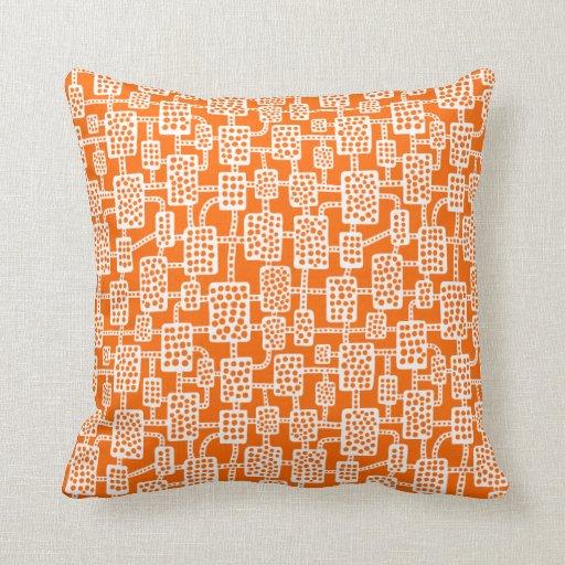 Extracto 041113 - Blanco en el naranja Cojin