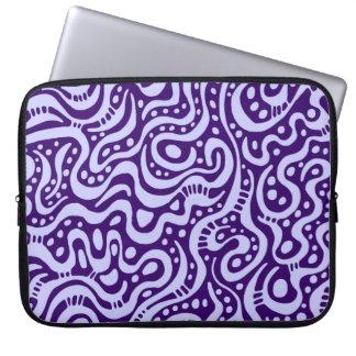 Extracto 041211 - Azules claros en Deep Purple Funda Portátil