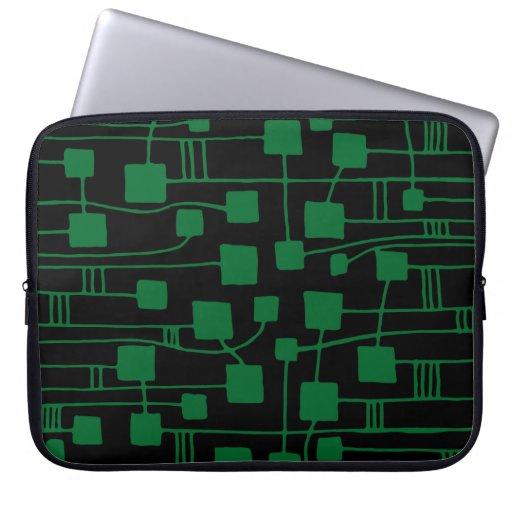 Extracto 111211 - Forest Green en negro Fundas Computadoras