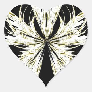 Extracto 127 pegatina en forma de corazón