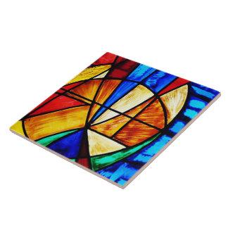 Extracto 2 del vitral azulejo cuadrado grande
