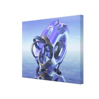 Extracto 333 un extracto púrpura y azul de la impresiones en lona